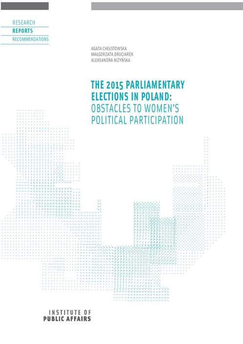 The 2015 parliamentary elections in Poland: obstacles to women's political participation